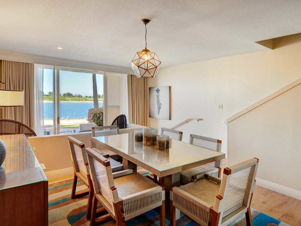 Barron Suite Dining Room with views at San Diego Mission Bay Resort